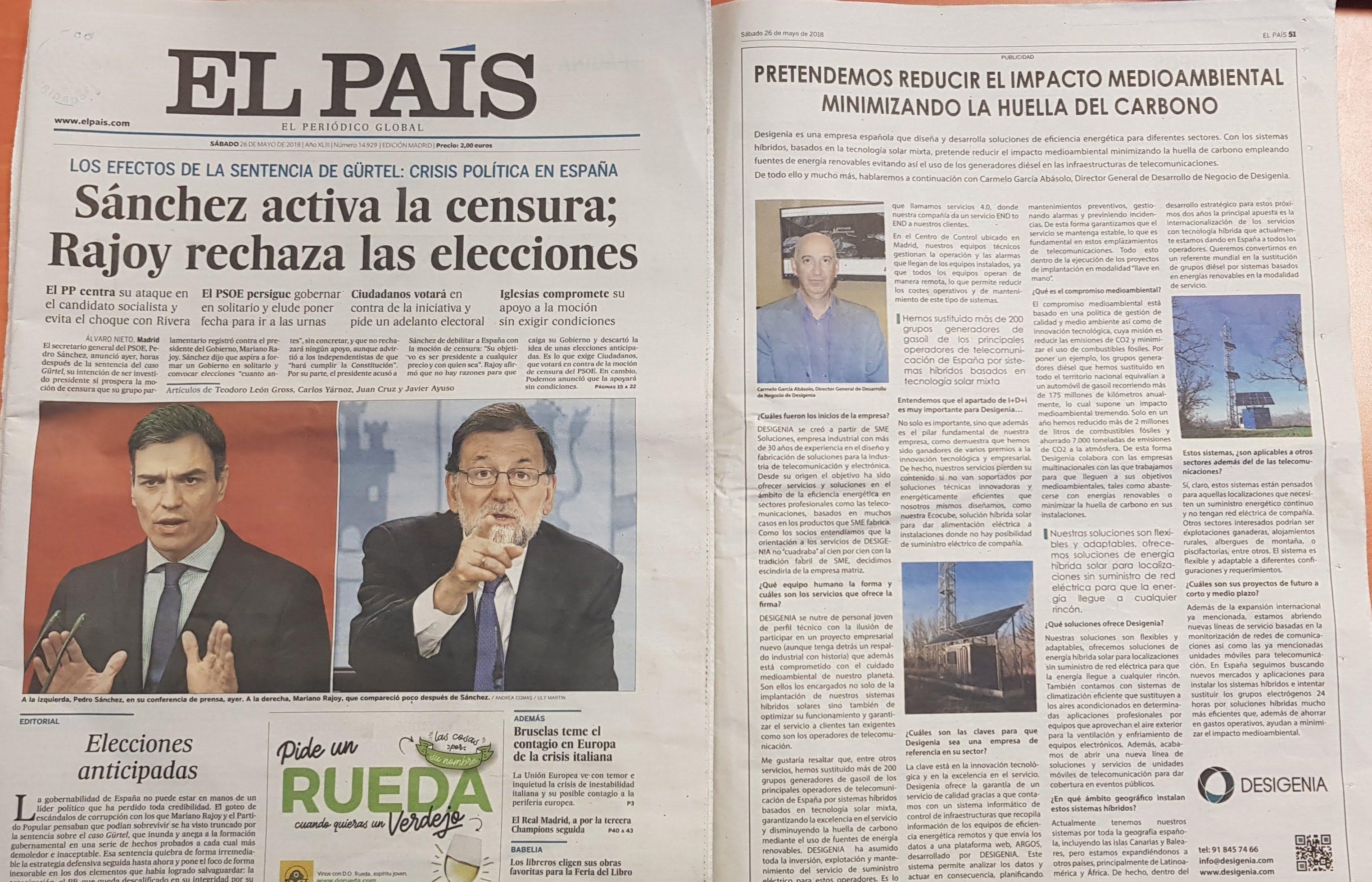 Desigenia en El País
